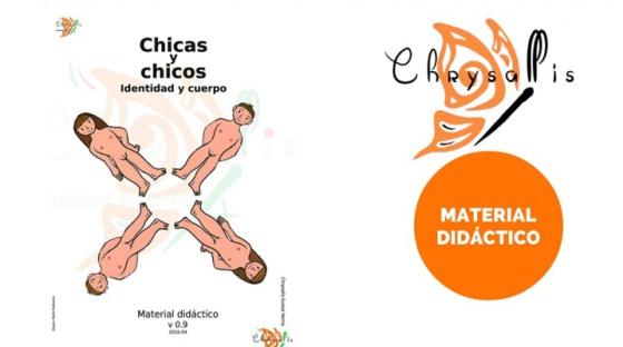 Portada del material didáctico para centros escolares editado por Chrysallis