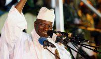 Yahya Jammeh durante un acto electoral en noviembre