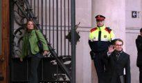 Artur Mas, esta mañana llegando al TSJC, donde se celebra el juicio