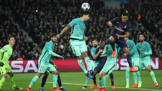 Barça-PSG, el partido de fútbol de la Liga de Campeones de la UEFA, el 14 de febrero de 2017.