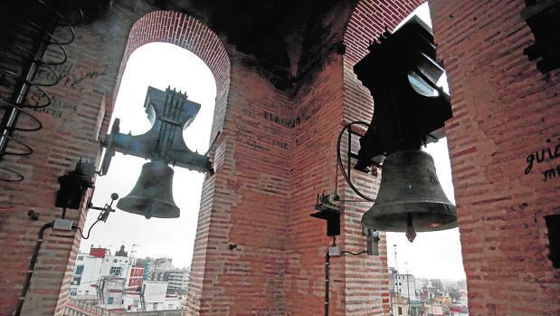 Imagen de las campanas de San Nicolás de Valencia, que llevan desde el viernes sin tocar