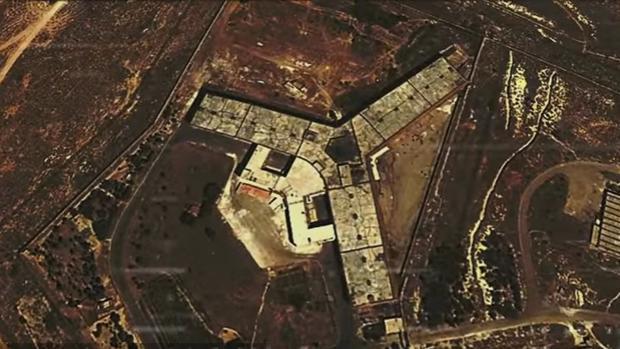 Vista aérea de la cárcel de Saidnaya, en Siria