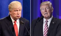 El falso Donald Trump, encarnado por Alec Baldwin, y el presidente de Estados Unidos