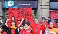 Imagen de archivo de una protesta ante una oficina de Endesa en Barcelona
