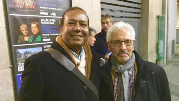 Masih y Vidal, en una foto colgada en el Twitter del ya senador