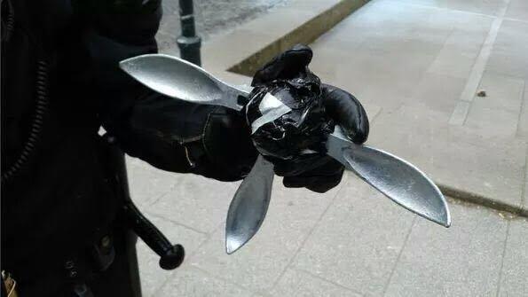 Objeto utilizado contra la policía.