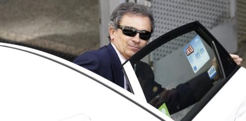 Jordi Pujol Ferrusola, hijo del expresidente de la Generalitat de Cataluña, a su salida de la Audiencia Nacional donde declaró ante el juez Pablo Ruz