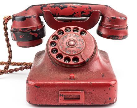 Teléfono rojo perteneciente a Adolf Hitler