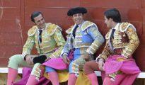 David Mora, Paquirri y José Garrido, el pasado año en Palencia