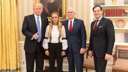 El presidente de Estados Unidos se ha reunido esta tarde con Lilian Tintori, mujer del preso político