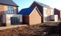 Viviendas de reciente construcción en el Reino Unido.
