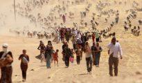 Yazidíes desplazados por la guerra