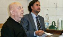 Gabriele Amorth (izda.) junto a José María Zavala durante la entrevista inédita que recoge el libro