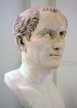 Busto de Julio César en el Museo Arqueológico Nacional de Nápoles