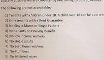 La carta que Fergus Wilson envió a los agentes inmobiliarios (Facebook)