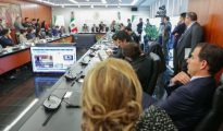 Un momento de la sesión de comisiones del Senado (Senado de México)