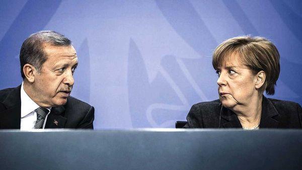 Recep Tayyip Erdogan y Angela Merkel