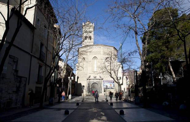 La iglesia de la Magdalena en una foto de archivo (foto Heraldo).