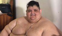 Juan Pedro hoy pesa 420 kilos. Bajó 170 desde los 590 kilos que pesaba a fines de 2016