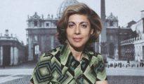 Paloma Gómez Borrero en sus primeros años como corresponsal. (Archivos RTVE)
