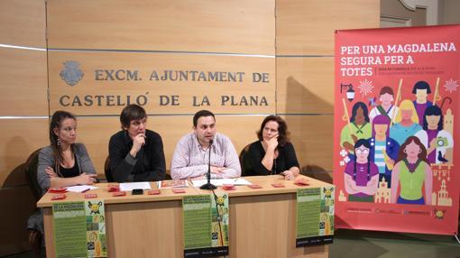 Imagen de la presentación de la campaña en el Ayuntamiento de Castellón