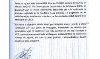 Recibo de 15.000 en metálico que pagó Convergencia a un empleado y varios vlountarios, reconstruido por la Guardia Civil