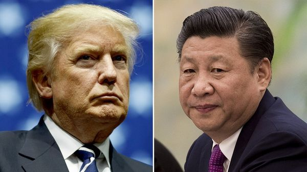 El presidente estadounidense, Donald Trump, y su homólogo chino, Xi Jinping