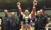 Yohanna Alonso, agente de la Guardia Civil y campeona del mundo de boxeo tailandés