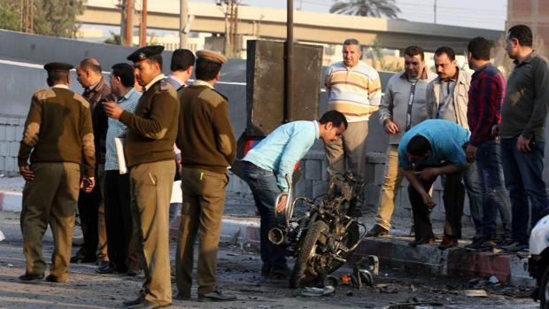 Imagen de otro atentado con bomba en el centro de Tanta, el 1 de abril