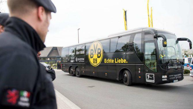 El autobús del Borussia Dortmund.