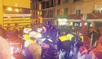 La calle Carretería de Málaga tras la estampida del Lunes Santo
