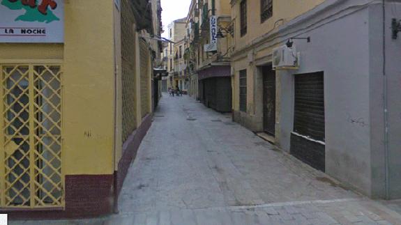 Calle del centro de Málaga donde tuvo lugar la pelea (Diario Sur)