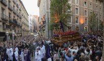 El Cristo de Los Gitanos, ayer, en Madrid