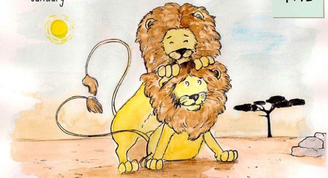 Imagen de un cartel de la campaña 'Es Natural' que adoctrina amenores sobre la homosexualidad animal.