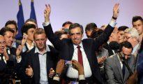 François Fillon, en un acto de campaña este lunes en Niza