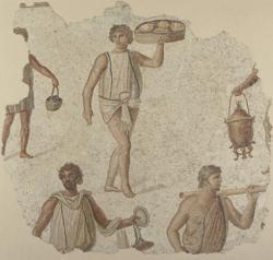 Fragmento de mosaico- MUSEO DEL LOUVRE, PARÍS