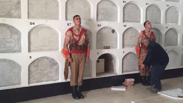 Imagen del nicho donde ya descansan los restos del teniente general