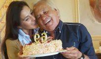 Concha Azuara y Sebastián Palomo Linares el día del cumpleaños del torero (foto ABC)