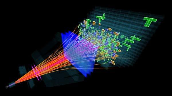 Colisiones de partículas en los experimentos del CERN