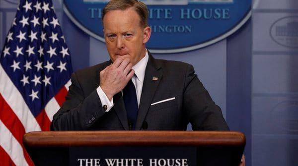 Sean Spicer, portavoz del gobierno estadounidense
