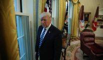 Donald Trump, durante su entrevista con Reuters