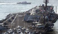 El USS Carl Vinson, el portaaviones desplegado por Estados Unidos en la península de Corea