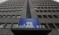 Fachada de la nueva sede de la Agencia Efe situada en la Avenida de Burgos número 8 de Madrid.