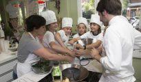 Los más pequeños disfrutaron del taller de cocina.