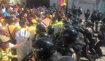 Imagen de la represión en Carabobo