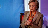 La ex secretaria de Estados Hillary Clinton durante el congreso de Women for Women en Nueva York