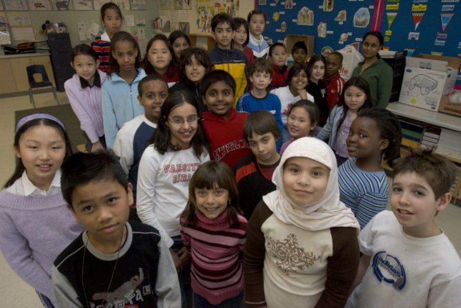 Alumnos de un colegio de Toronto.