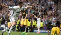 Cristiano, en uno de sus goles.