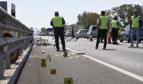 Imagen del accidente de la semana pasada en que otra conductora ebria se llevó por delante a otros seis ciclistas en la localidad valenciana de Oliva