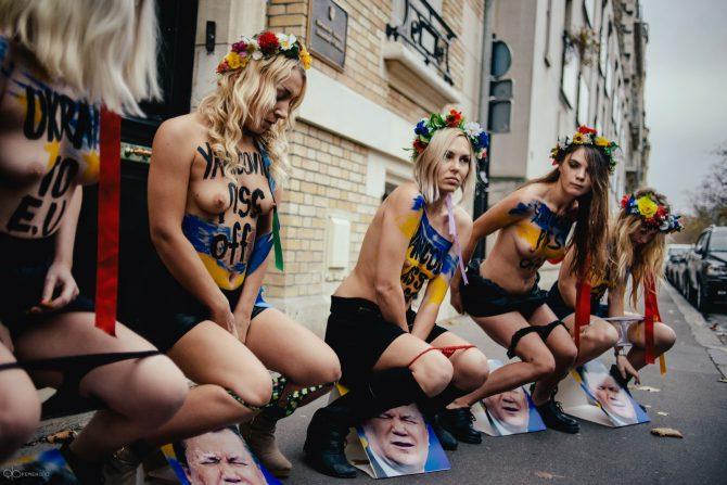 Feministas de Femen.